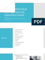 Building Maturing and Rocking a Security Operations Center Brandie Anderson