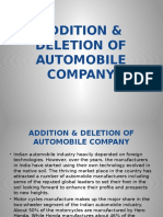 Addition & Deletion of Automo