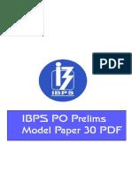 73534_IBPS PO Model Paper 30