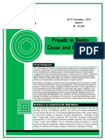 Frauds in Banks Cause and Remedies