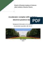 Accelerator Complex With Colliding Electron-positron Beams