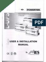 Manual para inversores PowerTek