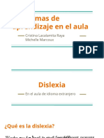Problemas de Aprendizaje en La Aula- Dislexia