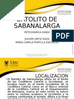 Batolito SabanaLarga