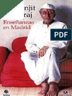 Enseñanzas en Madrid - Ranjit Maharaj