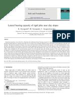 Soil Lateral Bearing Capacity
