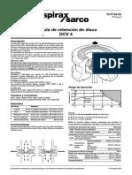 Válvulas de Retención de Disco DCV4-Hoja Técnica