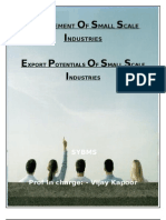 EXPORT POTENTIALS OF SMALL SCALE INDUSTRIES