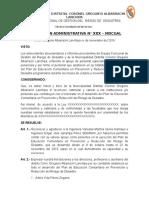 MODELO RESOLUCION ADMINISTRATIVA DOCENTES