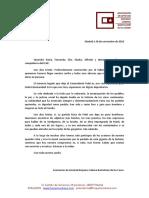 Mensaje de Condolencias de La Asociación de Amistad Hispano Cubana Bartolomé de Las Casas