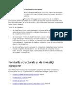 Fondurile Structurale Și de Investiții Europene