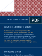 online research - citations