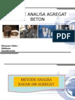 METODE ANALISA AGREGAT