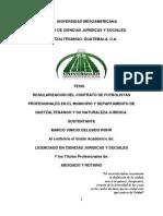 Tesis Regularizacion Del Contrato de Futbolistas Profesionales y Su Naturaleza Juridica