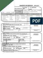 Formulário de Manifesto