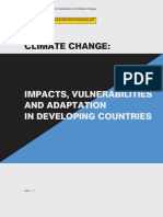 Climate Change Impacts, Vulnerabilities and Adaptation in Developing Countries