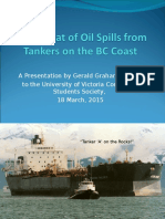The Threat of Oil Spills from Tankers on the BC Coast