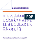 sequence of letter instruction