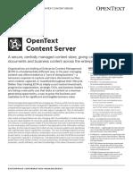 Opentext Enterprise Content Management Ecm Content Server Product Overview