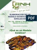 Congreso Udabol - Elaboracion de Un Modelo Estatico. Ing. Adonay Rengel