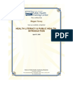 health literacy certificate