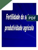 01 Fertilidade Do Solo e Produtividade Agricola