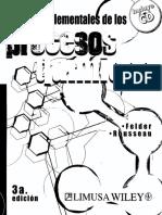 Principios Elementales de Los Procesos Quimicos Felder
