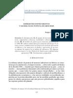 Diferentes Instrumentos y Modelos de Justicia de Menores