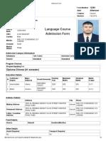 NUML Admission Form