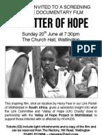 'A Matter of Hope' film Première Evening Poster
