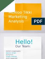 MC Donalds Aloo Tikki Market Analysis