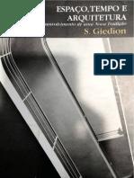 GIEDION, Sigfried. Esapaço, Tempo e Arquitetura