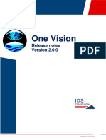 OneVision 2.0.0 Software Release Note