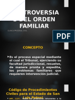Controversias Del Orden Familiar