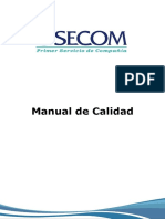 SECOM Manual de Calidad 2016