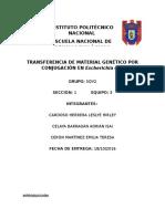Transferencia de Material Genético Por Conjugación en Escherichia Coli 1