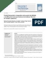 Estudio Biomec Nico Comparativo Entre Punto de Adelaide y Modificaci n Local Para Lesiones de Tendones Flexores en Modelo Cadav Rico 2014 Revista Colo