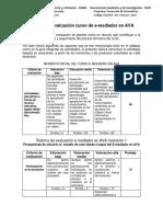 Rubrica de Evaluacion E-mediador FF