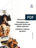 Solucionario Clase 20 Estrategias Para Interpretar Textos Que Relatan Historias 2016 CES