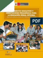 Lineamientos Educativos y Orientaciones Pedagogicos Para Educacion Sexual Integral