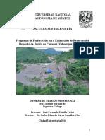 Programa de Perforación para Estimación de Reservas del Depósito de Barita de Caracolí, Valledupar, Colombia