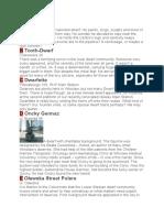 Popis Patuljaka i Lokacija