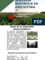 Aspersion Electrostatica en Al Agricultura