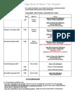 Esame Di Stato - Calendario Prove - Ingegnere Specialista - Seconda Sessione 2016-2