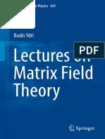 Lectures Matrix Field
