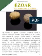 BEZOAR_Piedra de Venado