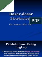 Dasar-dasar Bioteknologi (1)
