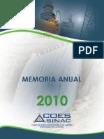 Memoria Anual 2010 Coes