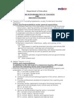 Duties and Responsibilities of Teachers and Master Teachers