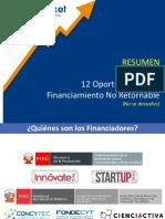 RESUMEN Oportunidades de Financiamiento